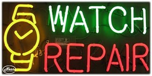 Watch Repair Neon Business Sign