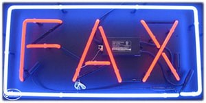 Fax Neon Business Sign