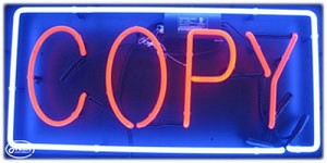 Copy Neon Business Sign