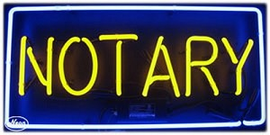 Notary Neon Business Sign