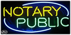 Notary Public Neon Business Sign