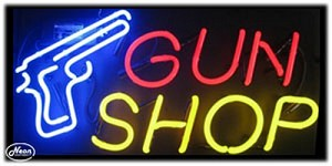 Gun Shop Neon Business Sign