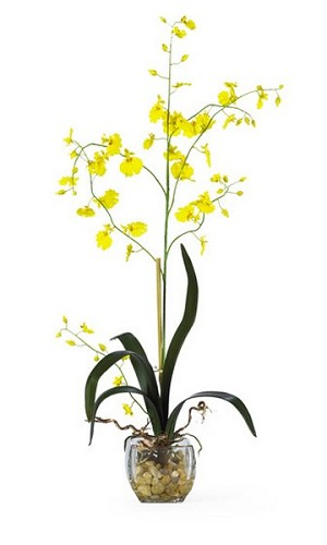 Oncidium Liquid Illusion Silk Orchid Arrangement