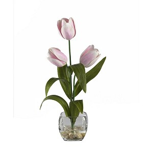 Tulips Liquid Illusion Silk Flower Arrangement