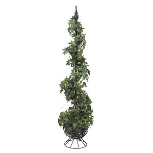 4' Mini English Ivy Silk Spiral Tree