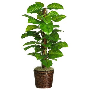 "51"" Large Leaf Philodendron Silk Plant (Real Touch)"