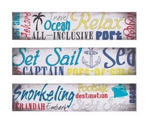 Nautical Canvas Set of 3
