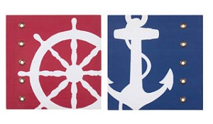 Riveted Nautical Canvas Set of 2