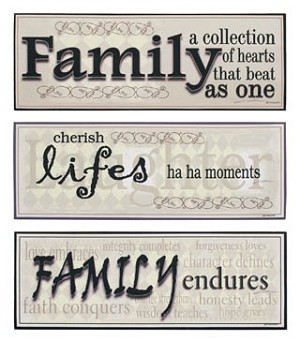 Family Matters Canvas Set of 3