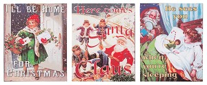 Vintage Christmas Canvas Set of 3