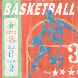 Basketball Player Vintage Tin Sign