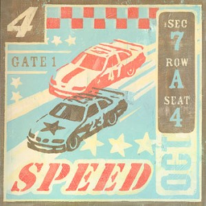 Speed Car Racing Vintage Tin Sign
