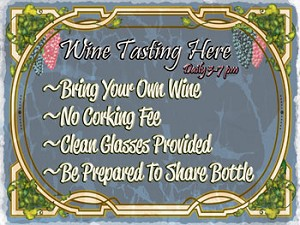Wine Tasting Here Vintage Metal Sign