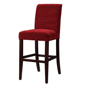 Garnet Chenille Slip Over for Bar Stool