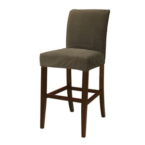 Mink Brown Velvet Slip Over for Bar Stool