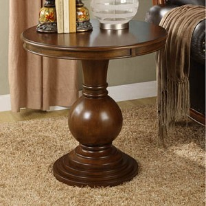 Cherry Round Accent Table