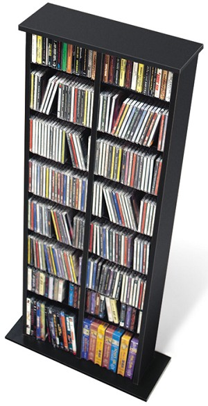 Black Double Multimedia Storage Tower By Prepac