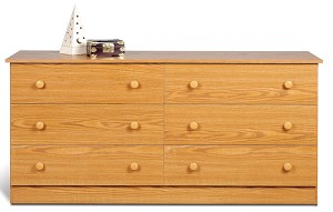 Oak 6-drawer Dresser By Prepac