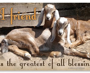 A Friend Is The Greatest Of All Blessings Vintage Metal Sign