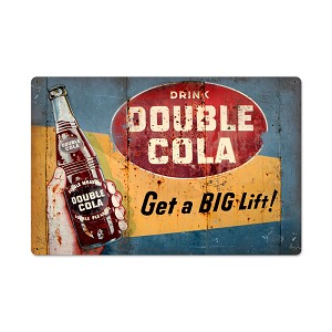 Double Cola Vintage Metal Sign
