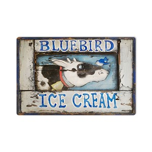 Blue Bird Ice Cream Vintage Metal Sign