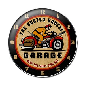Retro Rider Vintage Metal Sign Clock