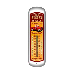 Old Truck Vintage Metal Sign Vertical Thermometer