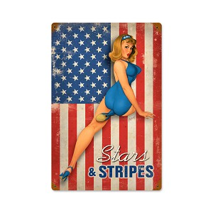 Stars and Stripes Vintage Metal Sign