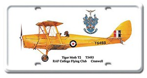 Tiger Moth T2 Vintage Metal Sign