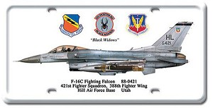 F-16C Fighting Falcon Vintage Metal Sign