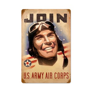 Join Army Vintage Metal Sign