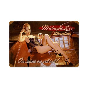 Midnight Lace Vintage Metal Sign