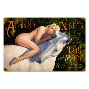 Arabian Nights Vintage Metal Sign