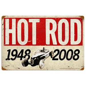 60th Anniversary Vintage Metal Sign