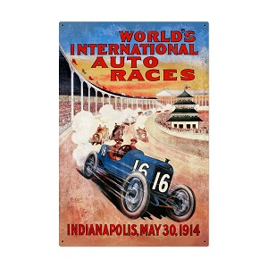Worlds Races Vintage Metal Sign