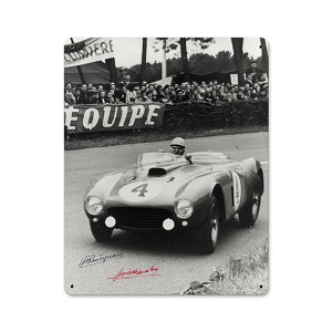 Le Mans Vintage Metal Sign