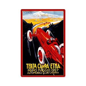 Terza Coppa Vintage Metal Sign