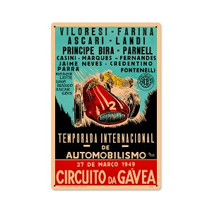 Gavea Circut Vintage Metal Sign