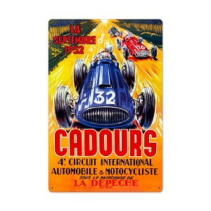 Cadours Circut Vintage Metal Sign