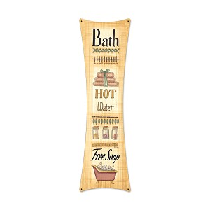 Bath Free Soap Vintage Metal Sign