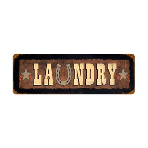 Laundry Vintage Metal Sign