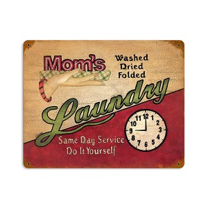 Mom's Laundry Vintage Metal Sign
