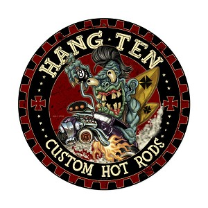 Hot Rod Monster Vintage Metal Sign