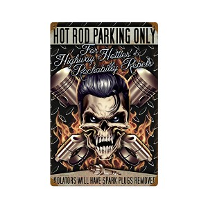 Hot Rod Parking Vintage Metal Sign