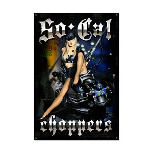 So Cal Choppers Vintage Metal Sign