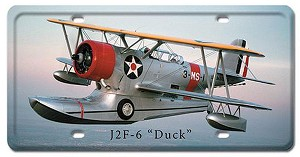 J2F-6 Duck Vintage Metal Sign