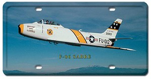 F-86 Sabre Vintage Metal Sign