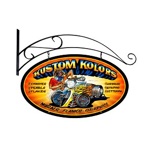 Kustom Kolors Vintage Metal Sign