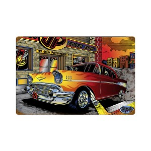 Chevy Speed Shop Vintage Metal Sign