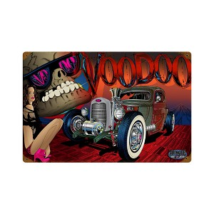 Rat Rod Voodoo Vintage Metal Sign
